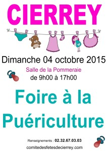 Foire à Puériculture Automne 2015 -affiche simple