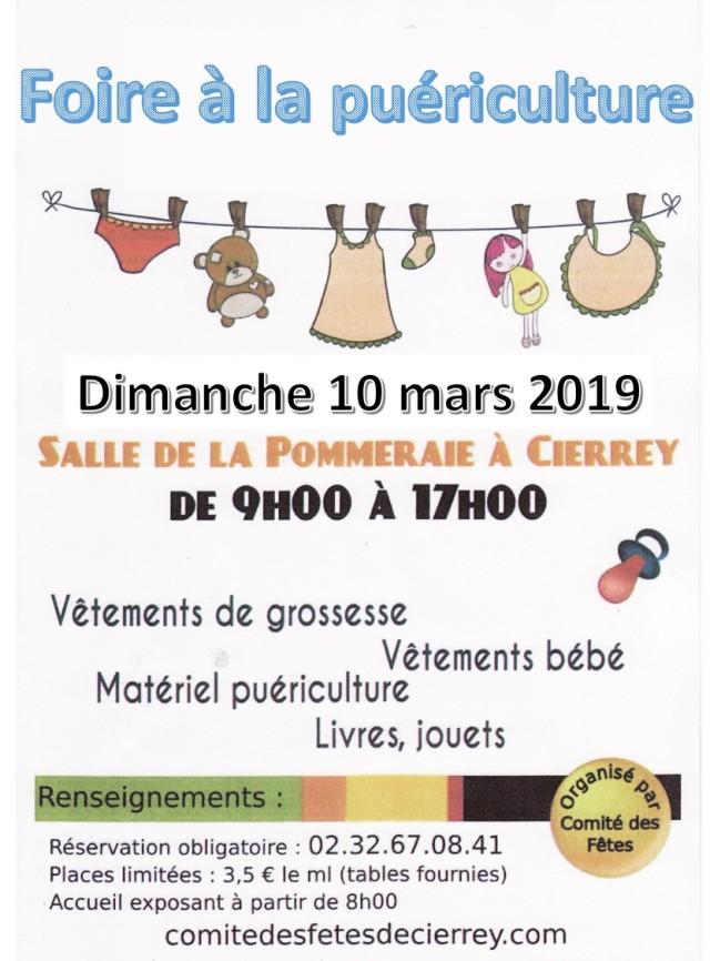 Foire à la puériculture - Cierrey 10-03-19